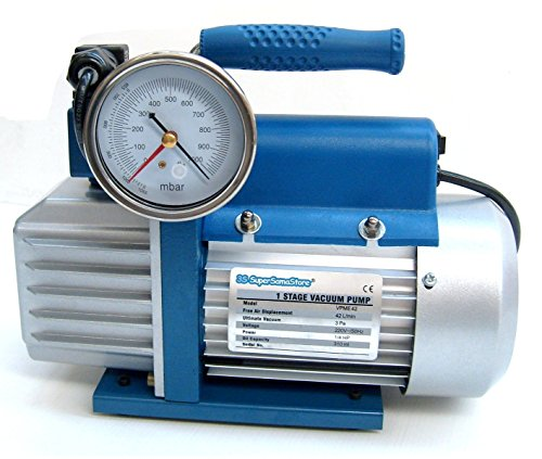 Pompa vuoto monostadio 42 Lt/min elettrovalvola e vacuometro