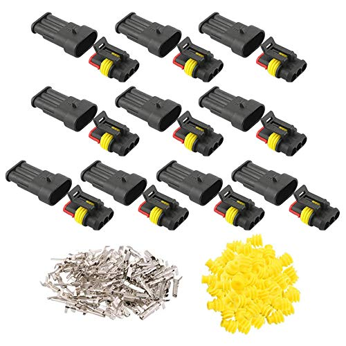 GTIWUNG 10 juegos Conector Electrico Impermeable, Impermeable Conector Enchufe, Impermeable Conector Enchufe...