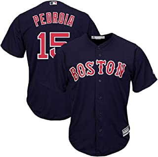 Dustin Pedroia Boston Red Sox Navy Blue Youth Cool Base Alternate Replica Jersey (Small 8)