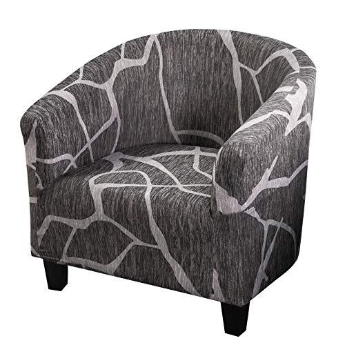 Topchances - Funda de sillón Chesterfield elástica elástica lavable Slipcover protector de sillón Tullsta tubullsta para dormitorio, salón, decoración jacquard (estilo D)