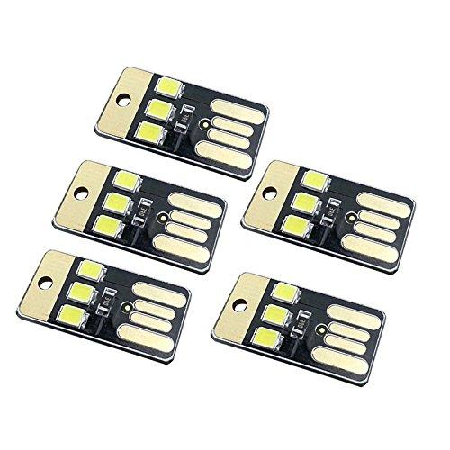 ONEVER Mini lampe de poche de nuit USB LED porte-clés lumière de nuit pour ordinateur portable banque d'énergie de l'ordinateur