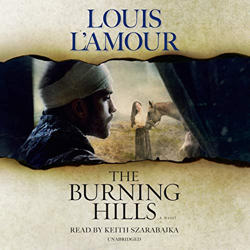 The Burning Hills audiobook cover art
