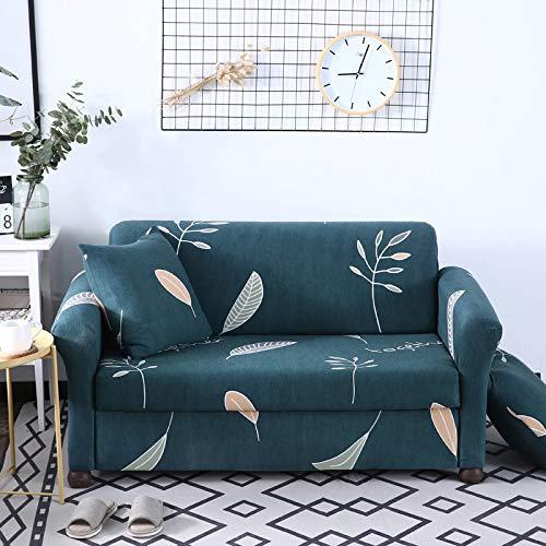 ASCV Blumenmuster Sofabezug Elastic Stretch Universal Sofa Schonbezug Sectional Throw Couch Eckbezug für Möbel Sessel A10 2-Sitzer