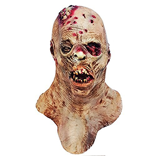 molezu Horror Costume, Latex Monster Scary Costume Suit for Costume Party Halloween Props Yellow