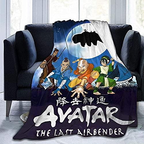 YRHAIR A-vat-AR - Manta de franela para niños, diseño de dibujos animados, manta para niños, manta para bebé, manta individual, doble manta suave y cómoda (A03,135 x 150 cm)