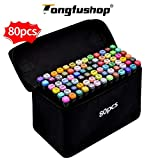 TongfuShop 80 Farbige Graffiti Stift Fettige Mark Farben Marker Set,Twin Tip Textmarker Graffiti Pens für Sketch Marker Stifte Set Mit