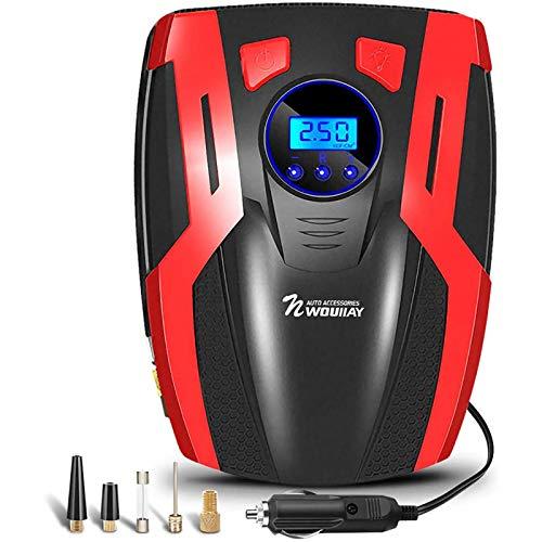 Compressore Aria Portatile Mini Pompa Elettrica per Pneumatici Compressore Auto con Schermo Retroilluminato LCD Digitale 150PSI 35L/MIN Illuminazione Multifunzione per Auto Moto