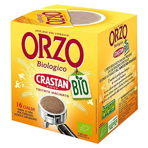 Crastan Cialde Espresso Orzo Biologico - 12 confezioni da 16 pezzi da 6 g [192 pezzi, 1152 g]
