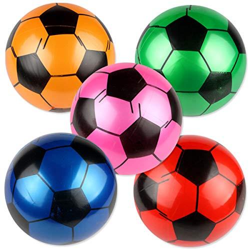 BESTOYARD Aufblasbarer Fußball PVC Beach Ball Sandspielzeug Kinder Spielzeug 9 Zoll 5 Stück (Zufällige Farbe)