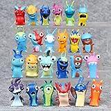 24 Pcs Trolls Dolls, Anime Cartoon Mini Slugterra PVC Action Figures Toys, Cake Topper Decorations, 2' Tall