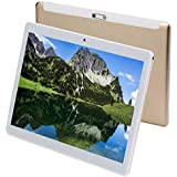 Tablet 10 Inch Android 9.0 3G Phone Tablets with 64GB Storage Dual Sim Card 5MP Camera, WiFi, Bluetooth, GPS, Octa Core, HD Touchscreen, Support 3G Phone Call (Gold)