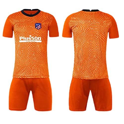 Camisetas de Portero de fútbol Camiseta Portero Domicilio para Hombre Deportes Ropa Chándales Sudaderas Equipamiento de fútbol para Entrenar y Jugar 2021 Atlético de París,Orange1,L