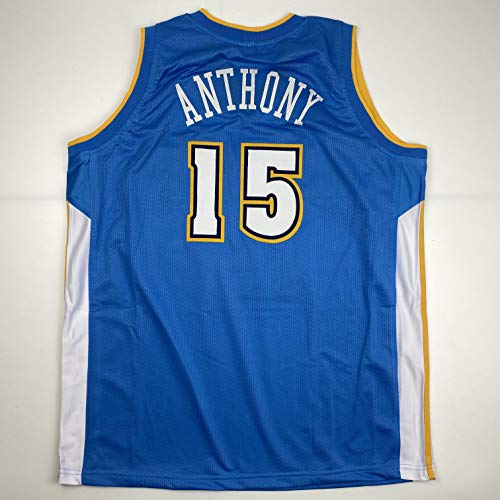 Unsigned Carmelo Anthony Denver Blue Custom Stitched Basketball Jersey Size Men's XL New No Brands/Logos