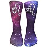 HomeMats Calcetines de compresión Classics Leo Galaxy Calcetines deportivos personalizados deportivos de 30 cm de largo para hombres y mujeres