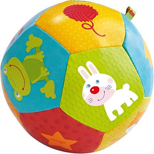 HABA- Balle pour bébé Mes Amis Les Animaux, 302484