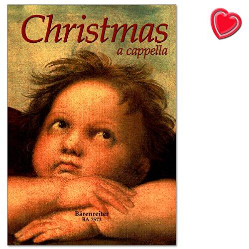 Christmas a cappella - Sammelband: mehr als 170 leicht erlernbare Sätze, überwiegend 3-4stimmig, viele flexible Besetzungen - Notenbuch mit bunter herzförmiger Notenklammer