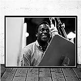 NVRENHUA Poster druckt Miles Davis Blue Jazz Musikalbum