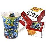 Carmani - Porcellana Tazza decorata con 'iris' di Vincent Van Gogh 350ml
