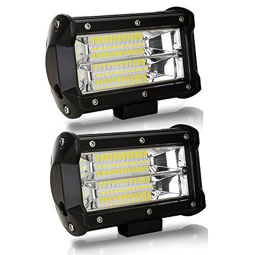Hengda 2x 72W LED Arbeitsscheinwerfer 12V 24V Zusatzscheinwerfer 9200LM Offroad LED Scheinwerfer für Traktor, SUV, ATV, Auto Rückfahrscheinwerfer IP67, 6500K