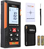Télémètre Laser 40m, Tacklife Metre Laser, Ecart 1.5mm, Calcule Distance Surface Volume, Fonction Pythagore, Stocker 30 données, 2 Niveaux à Bulle, Fonction Muet, IP54
