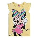 Disney niñas Minnie Mouse T-Shirt, Camiseta, Amarillo, Talla 116, 6 años