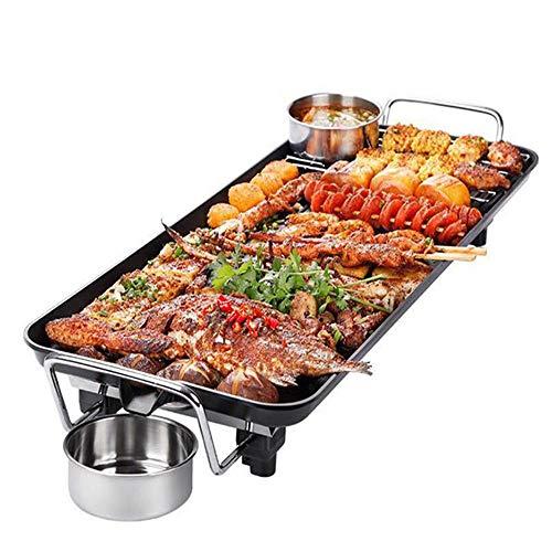 LYGACX Tischgrill Elektrogrill,Kochen Ohne Fett Antihaftbeschichtung,Wird Sehr Schnell Heiß Und Lässt Sich Einfach Reinigen,48 * 27+7