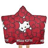 FSTGF Toalla de Playa Grande Capucha y Toalla de baño para bebé, diseño de Hello Kitty...