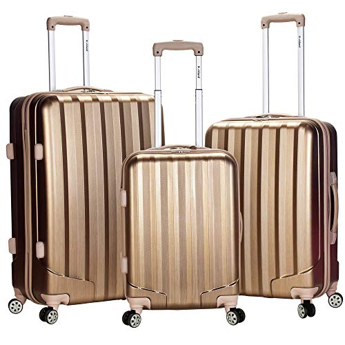 Rockland Santa Fe Hardside Spinner Wheel Luggage, Bronze, 3-Piece Set (20/24/28)