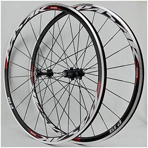 CAISYE Rennrad Fahrrad Vorderrad Hinterrad 700C 30MM Bike Laufradsatz Doppelwandige Leichtmetall Felgen V Bremse Schnelle Veröffentlichung Palin Lager 8-12 Geschwindigkeit,C