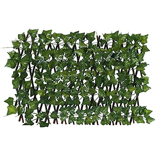 Expanding Trellis Fence, Retractable Fence, Expandable Fence Privacy Screen for Balcony Patio Outdoor, Artificial Garden Plant Fence Panels for Garden Fence Backyard Home Decor Faux Ivy