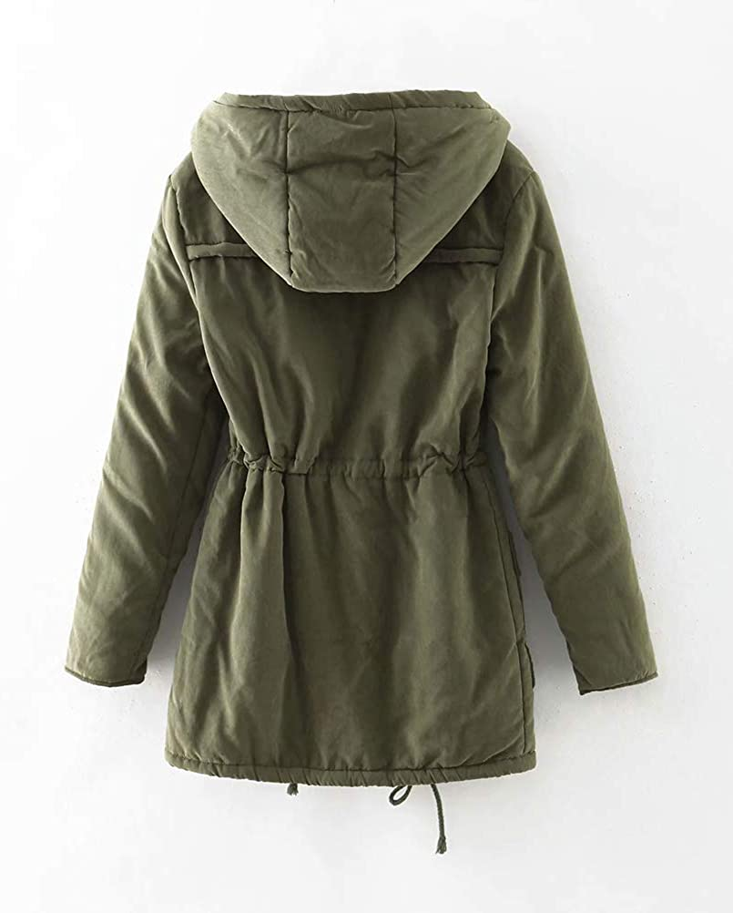ACE SHOCK Women's Plus Size Winter Coats Faux Fur Lined Quilted Jackets Fashion Winter Parka