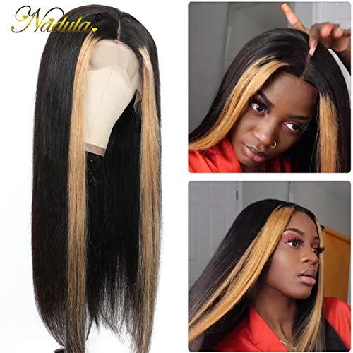 Nadula-Wig-134-Straight-Highlight-Lace-Front-Human-Hair-Wigs-150-Density-Brazilian-Ombre-Color-Pre-Plucked-Remy-Hair-Lace-Frontal-Wig-with-Front-Highlight