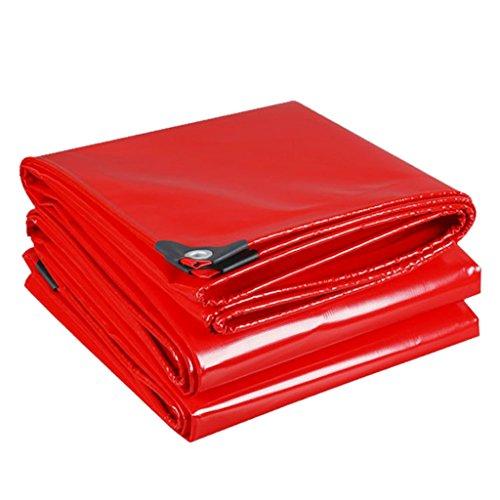 LIYFF- Funda de Lona Impermeable Resistente roja para Cubiertas de sábanas de Camping y Exteriores, Espesor 0.45 mm (Tamaño : 2MX2M)