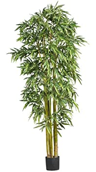 Nearly Natural 7  Big Bamboo Silk Artificial Trees 84in Green