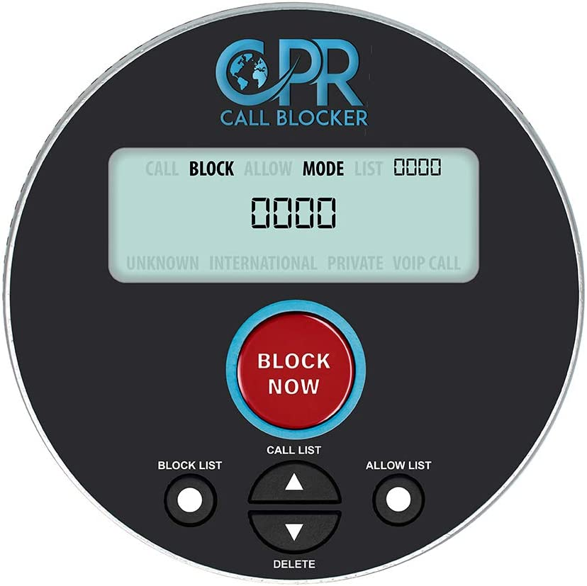 CPR V10000 - Landline Phone Call Blocker with Dual Mode Protection. Pre-Loaded with 10,000 Known Robocall Scam Numbers - Block a Further 2,000 Numbers at a Touch of a Button