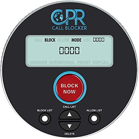 Saves and Blocks up to 4000 Phone Numbers Unknown Numbers Ivation Call Blocker for Landline Phones Robocalls Easy One-Touch Operation Stop Scams Solicitation and Calls with no Caller ID