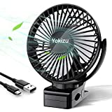 Yokizu 卓上扇風機 クリップ 小型 静音 usb充電式 ミニファン