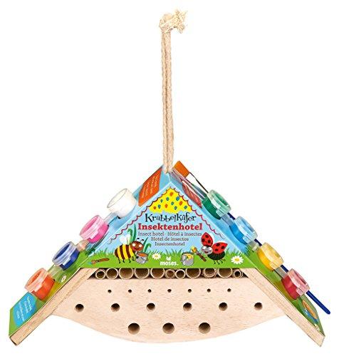 moses. 16099 Krabbelkäfer Insektenhotel zum Bemalen | Nisthilfe zum Selbergestalten | Für Kinder