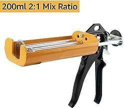 Manual Epoxy Applicator Gun 200 mL/6.75 fl oz (2:1 Mix Ratio) Dual Component Adhesive Cartridge Applicator Double Caulk Gun 2 Part Caulking Gun for 08115 08116 -Vitality Yellow …