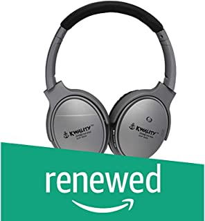 (Renewed) Kwality KY 6005 Bluetooth Headphones Over Ear Hi-Fi Stereo Wireless Headset (Grey and Blue)