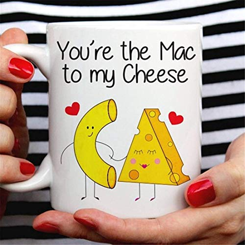 UUGOD Mac Love Not War - Cute Macaroni Mg Cute Mac and Cheese Mug
