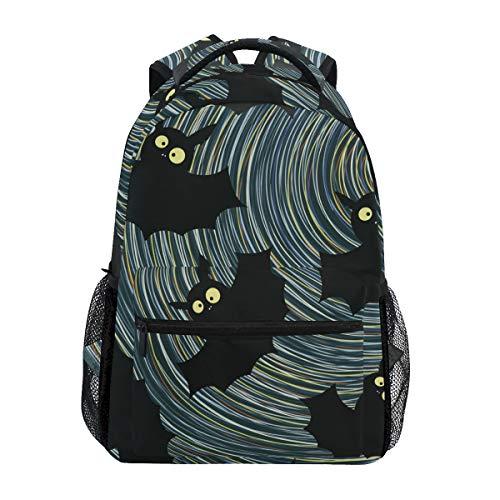 Ultraschallwelle Dunkle Fledermaus Rucksack Schulter Bookbag Kinderrucksack Teen Jungen Mädchen Büchertasche Laptop Rucksäcke