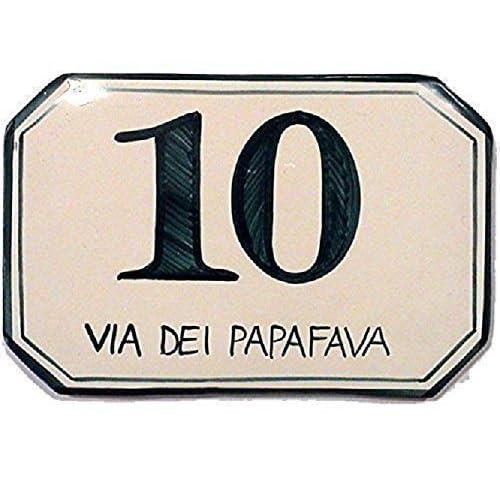 Numeri Civici e Targhe in ceramica - ordina qui il tuo numero civico personalizzato
