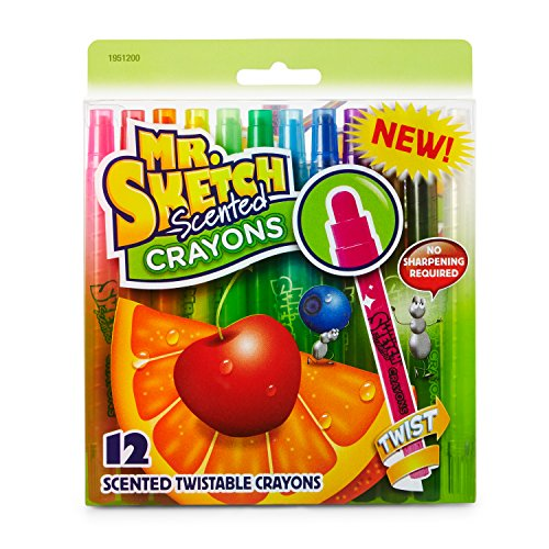 Mr. Sketch 1951200 Scented Twistable Crayons, Assorted Colors, 12-Count
