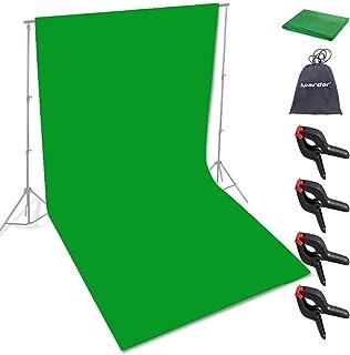 Spardar Pantalla de Fondo Fondo Plegable con Menos Arrugas (10 * 15FT / 3 * 4.5M Verde) para Retrato, fotografía de Produc...