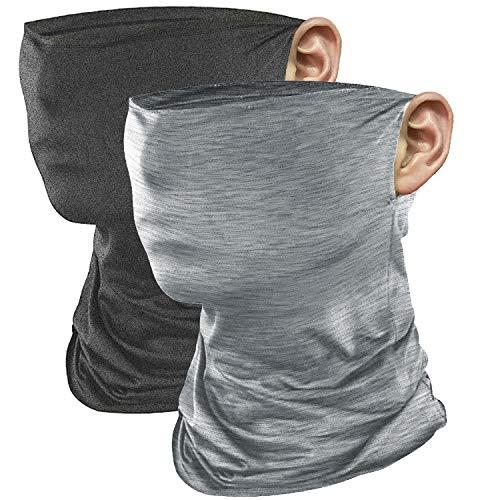 JUSTCOOL フェイスマスク ランニングマスク フェイスカバー ネックゲイター 夏 ネックガード ネックカバー スポーツマスク バイクマスク クール ネック 冷感マスク 夏 UVカット 紫外線対策 吸汗速乾 男女兼用 2枚セット