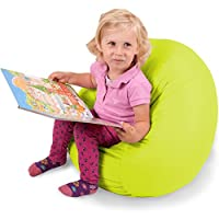 Panda Sleep Junior King-Sized Bean Bag Chair in Spicy Lime - Machine Washable Big Comfort Cover with Soft PolyCloud Filler - Cozy Lounger & Bed - Toddlers Love This Huge Sack - Indoor Furniture