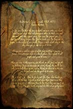 Imagekind Wall Art Print Entitled Chief Tecumseh Poem Attribution by Wayne Moran | 16 x 24