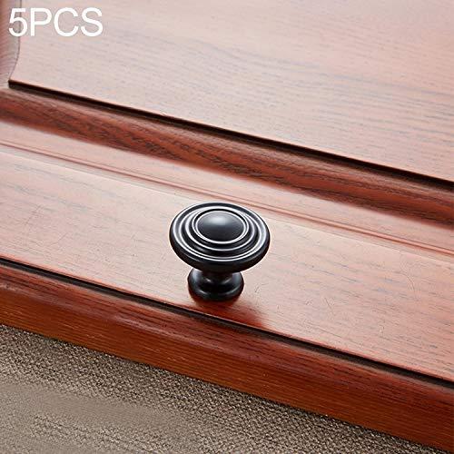 ZHAODONG Mango Mango 5 PCS 6230-Mate Negro Individual Madera de durazno del gabinete del cajón de Puerta
