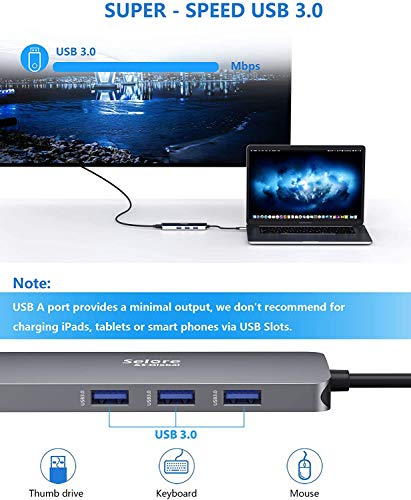 USB C zu Dual HDMI Adapter 8 in 1 USB C Adapter Dual Monitor auf 2 HDMI, 3 USB 3.0,100W PD, SD/TF Kartenleser USB C Hub USB C Docking Station für Surface Pro 7, Dell XPS 13/15, Dell Latitude 7400